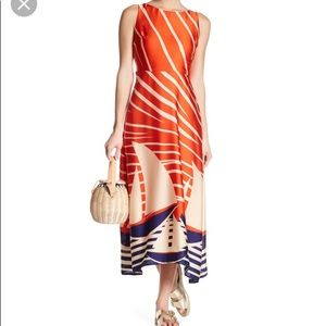 Eva Franco Kelsey Graphic Sailboat Dress size 10